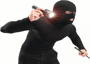 Surveillance Burglar With Flashlight Crook Criminal Thief Flashlight