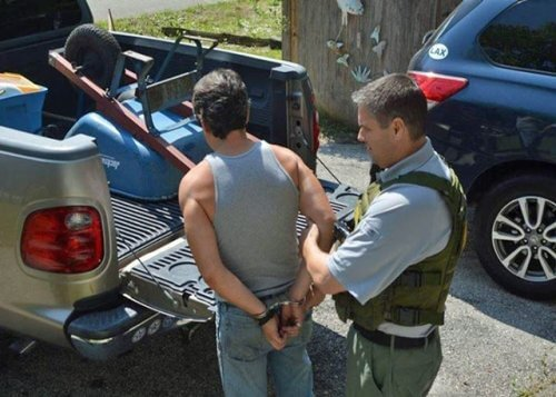 Houston Security Unlicensed Contractor Sting Arrested Handcuffed